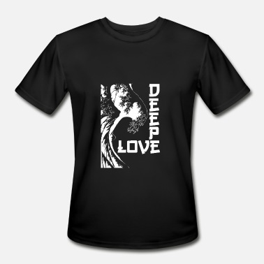 Geek Life Skull deeplove wite - Men's Moisture Wicking Performance T-Shirt