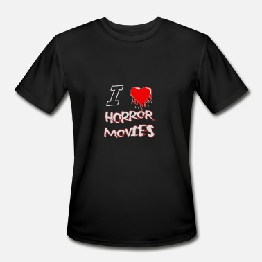 I Love Movies I Love Horror Movies Funny - Men's Sport T-Shirt
