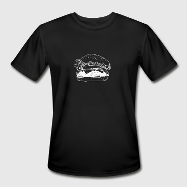 All Kind Love Burgers Love all Kinds Of Burgers Graphic Artwork - Men's Moisture Wicking Performance T-Shirt