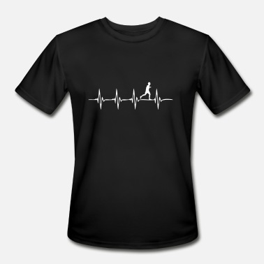 Running Heartbeat Love Heartbeat Running - Men's Sport T-Shirt