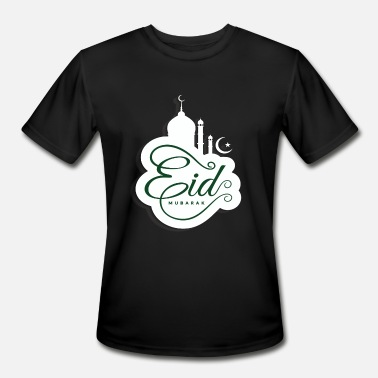 Muslim Girl EID MUBARAK holiday shirt - Men's Moisture Wicking Performance T-Shirt