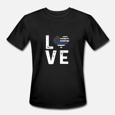 Thin Blue Line Love Thin Blue Line Love - Men's Moisture Wicking Performance T-Shirt