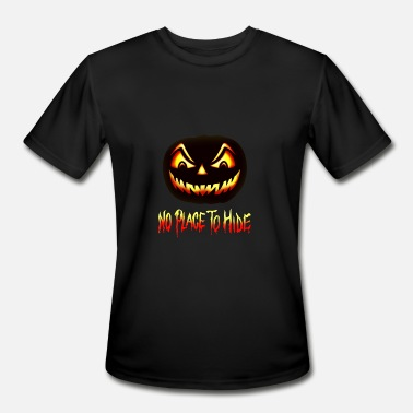 Hiding Place No Place To Hide Halloween Horror Pumpkin - Men's Moisture Wicking Performance T-Shirt