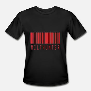 Red Porn MILFHUNTER BARCODE RED - Men's Moisture Wicking Performance T-Shirt