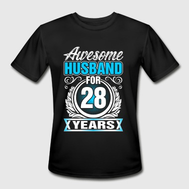 28 Years Awesome Husband for 28 Years - Men's Moisture Wicking Performance T-Shirt