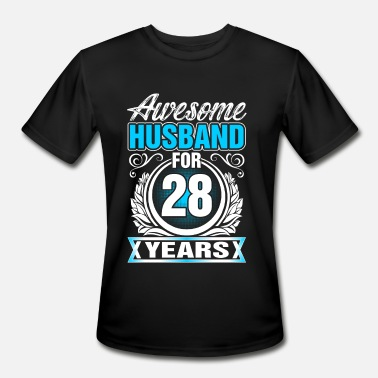 28 Years & Awesome Husband for 28 Years - Men's Moisture Wicking Performance T-Shirt