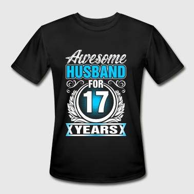 17 Years Of Awesome Awesome Husband for 17 Years - Men's Moisture Wicking Performance T-Shirt