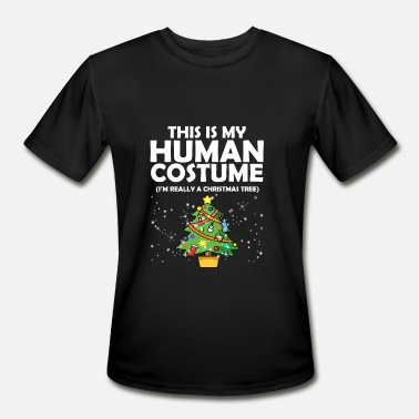 Jpop This Is My Human Costume I Really A Christmas Tree - Men's Sport T-Shirt