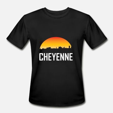 Cheyenne Wy Cheyenne Wyoming Sunset Skyline - Men's Moisture Wicking Performance T-Shirt