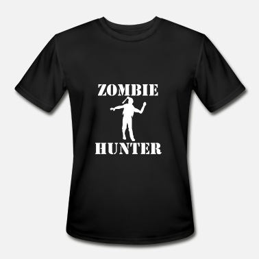 Is A Zombie Hunter Zombie Hunter - Men's Moisture Wicking Performance T-Shirt