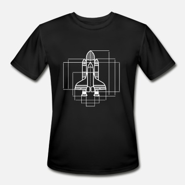 Space Engineers Aerospace Engineering Space Shuttle - Men's Moisture Wicking Performance T-Shirt