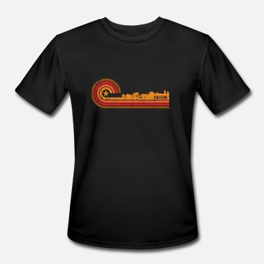 Cheyenne Wy Retro Style Cheyenne Wyoming Skyline Distressed - Men's Moisture Wicking Performance T-Shirt