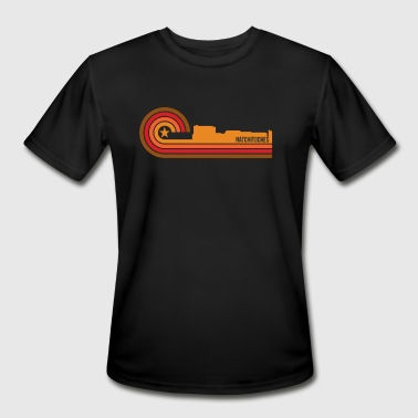 Retro Style Natchitoches Louisiana Skyline - Men's Moisture Wicking Performance T-Shirt