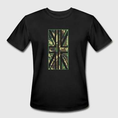 Union Jack Camo Flag - vertical - Men's Moisture Wicking Performance T-Shirt