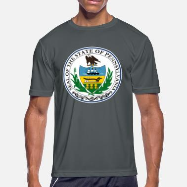 Pennsylvania Pennsylvania State Seal - Men's Moisture Wicking Performance T-Shirt