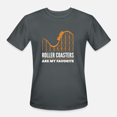Coaster Roller Coasters Are My Favorite - Men's Sport T-Shirt