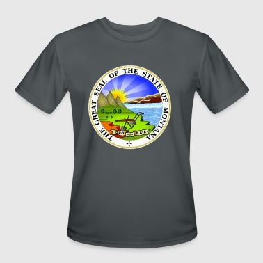 State Of Montana Montana Official State Seal - Men's Moisture Wicking Performance T-Shirt