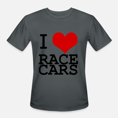 I Love Race Cars - Men's Moisture Wicking Performance T-Shirt