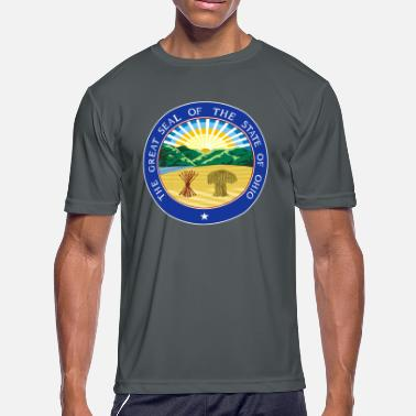 State Seal OHIO Official State Seal - Men's Moisture Wicking Performance T-Shirt