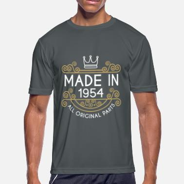 Made In 1954 All Original Parts Made In 1954 All Original Parts - Men's Moisture Wicking Performance T-Shirt