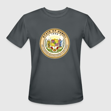 Hawaii Official State Seal - Men's Moisture Wicking Performance T-Shirt