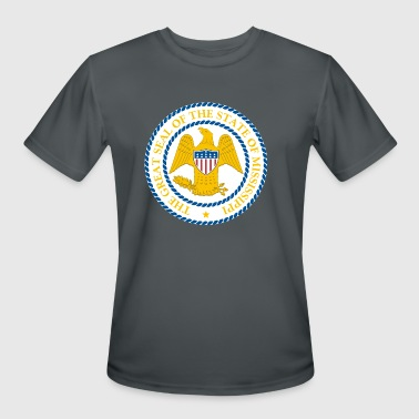 MISSISSIPPI Official State Seal - Men's Moisture Wicking Performance T-Shirt