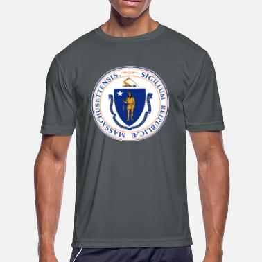 State Seal Massachusetts Official State Seal - Men's Moisture Wicking Performance T-Shirt