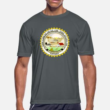 State Seal Nevada Official State Seal - Men's Moisture Wicking Performance T-Shirt