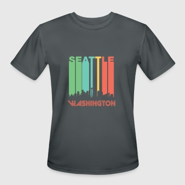 Seattle Skyline Retro Seattle Skyline - Men's Moisture Wicking Performance T-Shirt