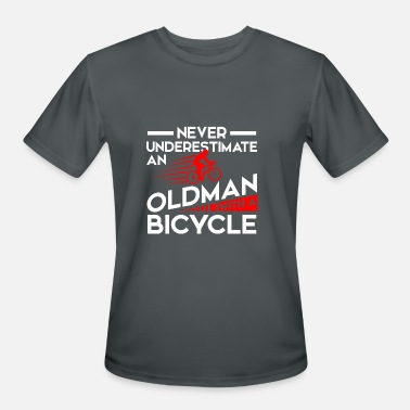 Never Underestimate Old Man With Bicycle Never Underestimate Old Man with Bicycle - Men's Moisture Wicking Performance T-Shirt