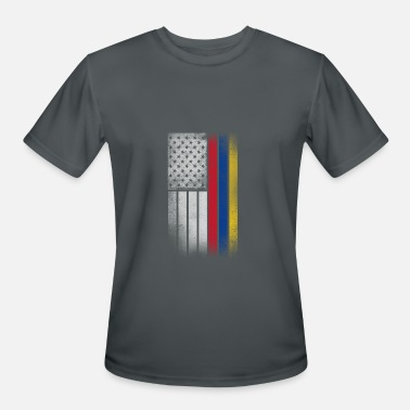 Colombian American Flag Colombian American Flag - Men's Moisture Wicking Performance T-Shirt