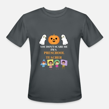 Preschool Teacher Halloween Funny Halloween Preschool Teacher Shirt - Men's Moisture Wicking Performance T-Shirt
