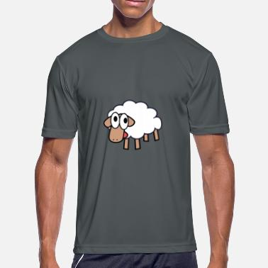 Cute Cartoon Cute cartoon sheep - Men's Moisture Wicking Performance T-Shirt