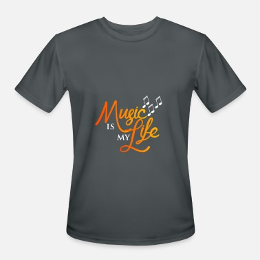 Music Is Life Music is My Life - Men's Moisture Wicking Performance T-Shirt