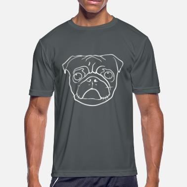 Pug Silhouette Pug Face silhouette - Men's Moisture Wicking Performance T-Shirt