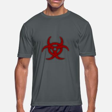 Sucker Symbol TOXIC BIOHAZARD RED BLOOD SYMBOL - Men's Moisture Wicking Performance T-Shirt