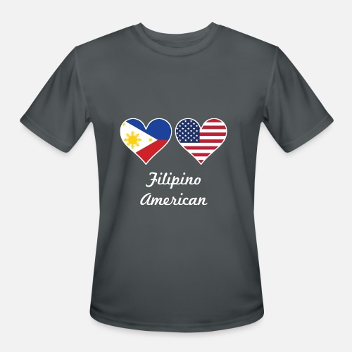 fdcadc7eea1 Filipino American Flag Hearts Men s Sport T-Shirt