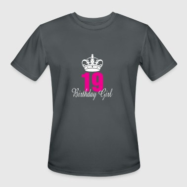 Birthday Girl 19 Years Old - Men's Moisture Wicking Performance T-Shirt
