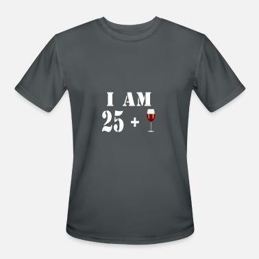 March 1993 25 I am 25 plus glass of wine - Men's Sport T-Shirt