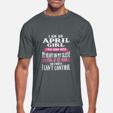 3bc443aaf APRIL BORN GIRL FIRE IN MY SOUL APRIL BIRTHDAY - Men's Sport. Men's  Sport T-Shirt