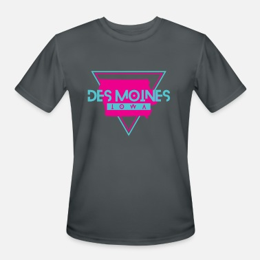 Des Moines Ia Des Moines Iowa Souvenirs IA Retro - Men's Moisture Wicking Performance T-Shirt