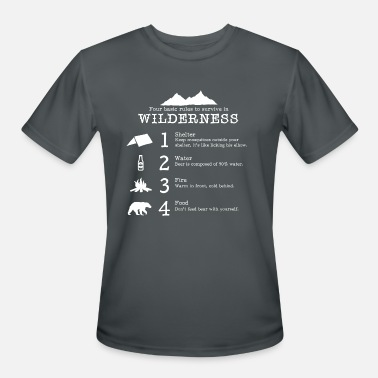 Survival Survive in nature - Men's Moisture Wicking Performance T-Shirt
