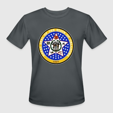 Oklahoma Official State Seal - Men's Moisture Wicking Performance T-Shirt
