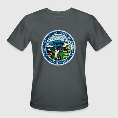 Nebraska Official State Seal - Men's Moisture Wicking Performance T-Shirt
