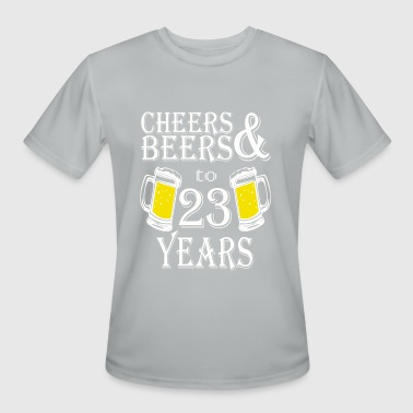 23 Year Cheers And Beers To 23 Years - Men's Moisture Wicking Performance T-Shirt