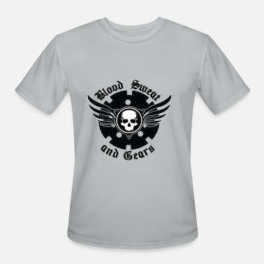 Sweat Motor Blood Sweat and Gears - Men's Moisture Wicking Performance T-Shirt