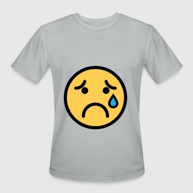Smiley Face Sad Crying Face - Men's Moisture Wicking Performance T-Shirt