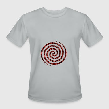 Red Lightning Bolt Crimson Vortex - Men's Moisture Wicking Performance T-Shirt
