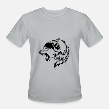 Military Self-defence wolf angry face - Men's Sport T-Shirt