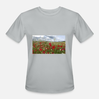 Poppy field forever - Men's Sport T-Shirt